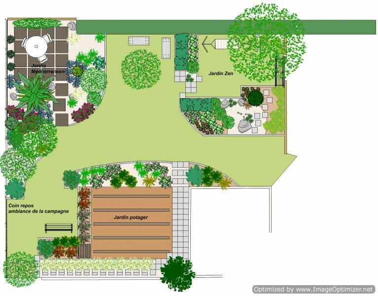 Am nagement de jardin marrakech for Plan amenagement jardin